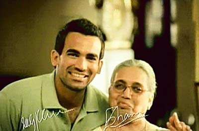 Image result for zaheer khan with his parents