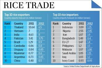 World's top 10 rice exporters and importers