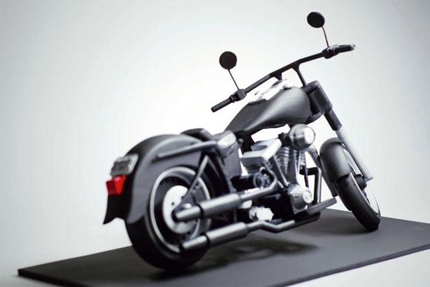 harley davidson 3d printed miniature model commercial. Black Bedroom Furniture Sets. Home Design Ideas