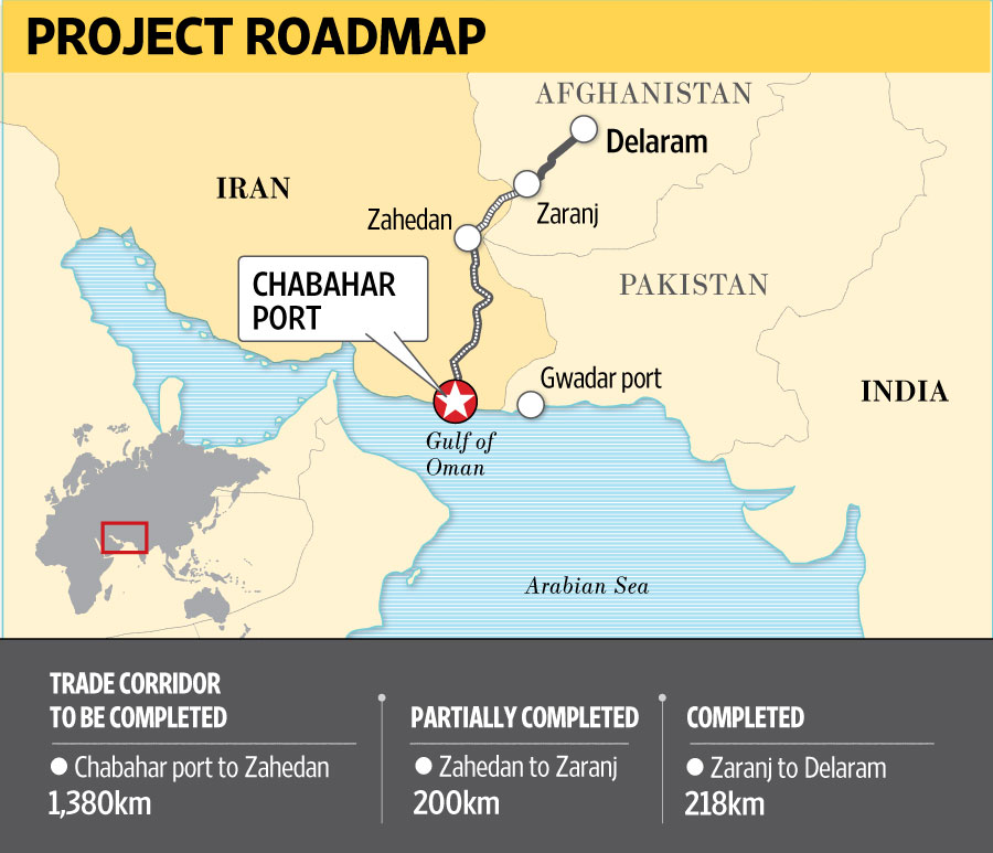 India Iran and Afghanistan ink trade corridor pact Livemint – Map of Iran and India
