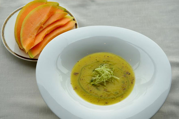 Chilled Orange, Cantaloupe And Fennel Soup