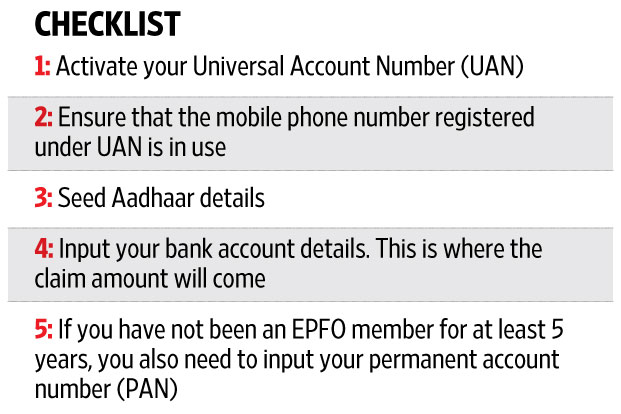 How to submit your EPF claim online - Livemint