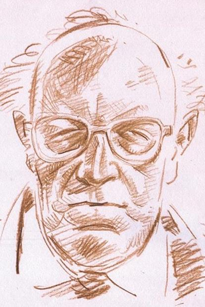 A sketch of Oskar Spate. Illustration: Jayachandran/Mint