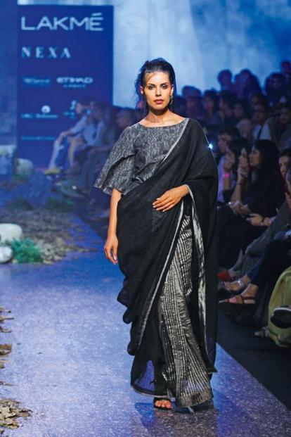 A sari from Anavila Misra's collection 'Blur'