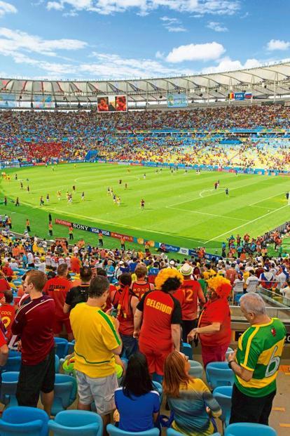A World Cup 2014 match at the Maracana stadium, Rio de Janeiro, Brazil. Photo: Alamy