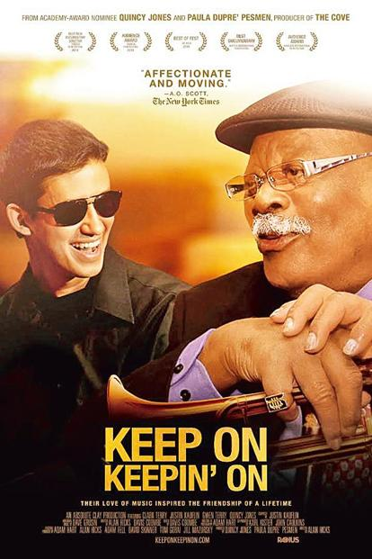 Poster of a film based on Kauflin's friendship with jazz artist Clark Terry. Photo courtesy Justin Kauflin