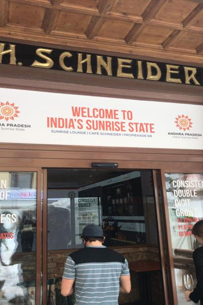 Delicacies from Andhra Pradesh can be had at Cafe Schneider.