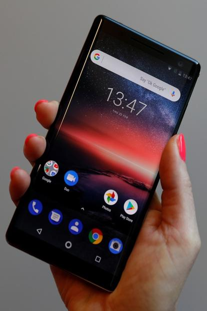The Nokia 8 Sirocco will run Android Oreo's Android One variant. Photo: Reuters