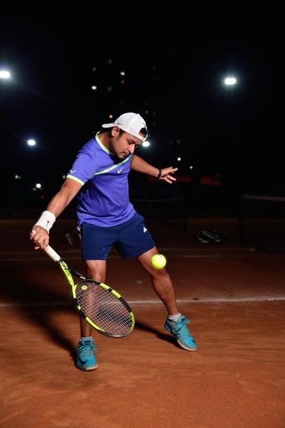 Rahul Chaudhuri has strengthened his shoulders, arms and back by playing tennis. Photo: Pradeep Gaur/Mint