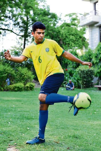Shashwat Bansal from Bengaluru is travelling to Russia this month to support Brazil. Photo: Pradeep Gaur/Mint