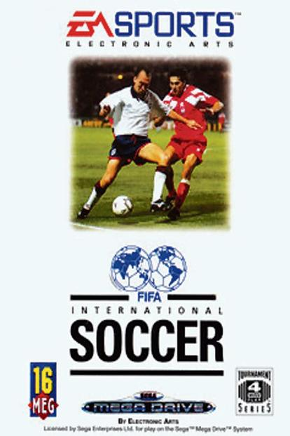 The game cover for 'FIFA International Soccer', released in 1993.