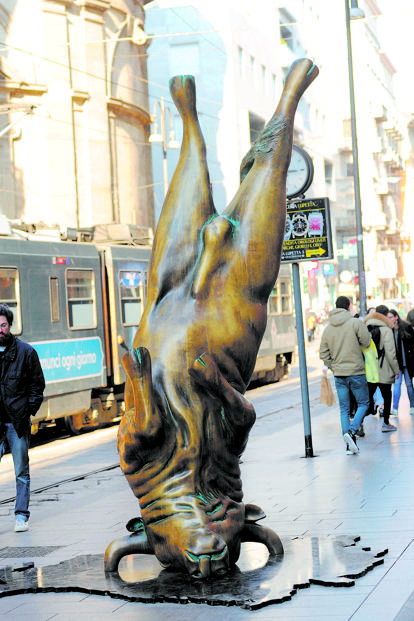 Christian Balzano's sculpture on Via Torino. Photo: Alamy