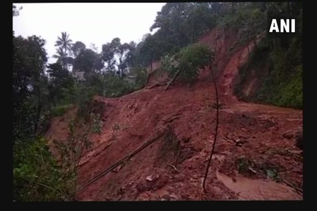 Landslide in Kodagu, Karnataka. Photo: ANI