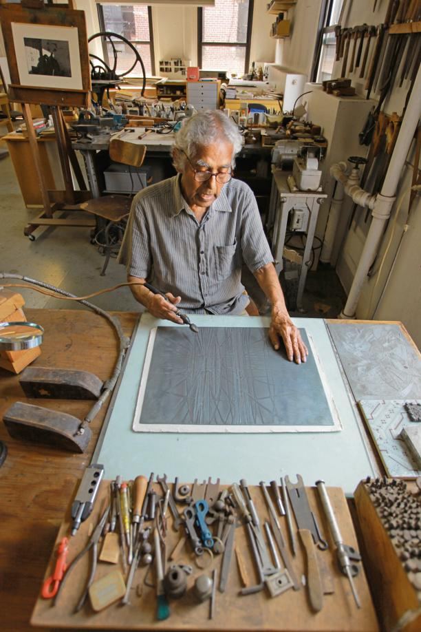 Krishna Reddy in his studio. Photo: Ram Rahman