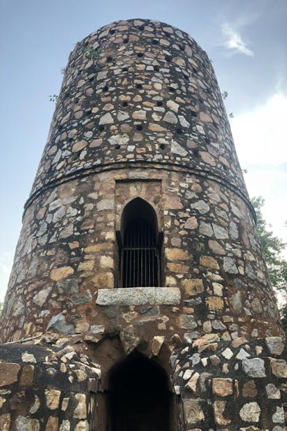 Chor Minar, or the Tower of Thieves, is a 13th century monument where the severed heads of criminals were exhibited to instil fear in the populace. Photo: Pradeep Gaur/Mint