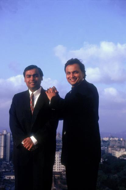 Anil Ambani and Mukesh Ambani, then scions of their father's Reliance Industries. Photo: India Today