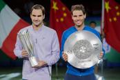 So far in 2017, Roger Federer and Rafael Nadal have shared 12 titles between them, including all the four Grand Slams. Photo: AFP