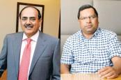 IndusInd Bank's MD and CEO Romesh Sobti (left) and Bharat Financial Inclusion's MD and CEO M.R. Rao. Photo: Mint
