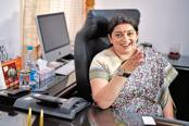 I&B minister Smriti Irani. The I&B ministry said in the advisory that condom ads should only be aired between 10pm and 6am to avoid exposure of such material to children. Photo: HT