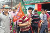 BJP's election campaign in Tripura is based on 'Chalo paltai' (let's change the government). Photo: Mrinmoy Saha/Mint