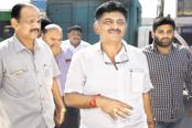 D.K. Shivakumar and his brother Suresh were quick to swing into action and protect the Congress and JD(S) MLAs soon after BJP leader B.S. Yeddyurappa was asked to prove majority in the Karnataka assembly. Photo: HT