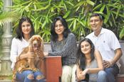 From right: J.M. Balaji, Antara Balaji, Rashmi Balaji and Ahana Balaji