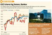ICICI Bank shares have underperformed the Sensex and BSE Bankex since the controversy around CEO Chanda Kochhar surfaced in the last week of March. Graphic: Mint