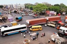 Chakan's roads witness frequent traffic jams due to the rapid urbanization. Photo: Abhijit Bhatlekar/Mint