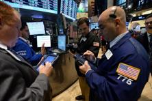 The Dow Jones industrial average dropped 55.44 points, or 0.41%, to 13,328.85. The Standard & Poor's 500 Index fell 4.74 points, or 0.32%, to 1,457.15. Photo: AFP
