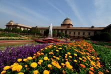 The Mughal Gardens at the Rashtrapati Bhavan in Delhi are in full bloom. The gardens that span about 15-acres, were designed by the British architect <a href=