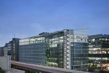 A file photo of AstraZeneca headquarters in London.