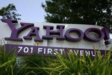 Yahoo also projected net revenue for the second quarter of $1.06 billion to $1.09 billion in a presentation posted on its website after its earnings release on Tuesday.  Photo: Justin Sullivan/Getty Images/AFP