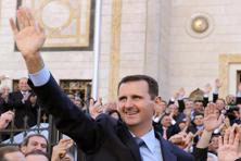 "Syrian President Bashar al-Assad, whose forces are battling alongside Hezbollah fighters to recapture the key town of Qusayr near the border with Lebanon, said he was ""very confident"" of victory. AFP"