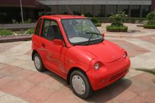 A file photo of the Reva model. Mahindra Reva Electric Vehicles Pvt. Ltd's e2o, can be operated by a smartphone to lock or unlock the car's doors, find the nearest charging stations, set schedules for air conditioning or get the car's problems diagnosed. Photo: Hindustan Times