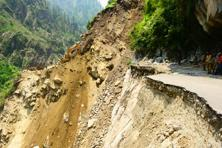 The road between Govindghat and Badrinath after the rains. Photo: Ramesh Pathania/Mint