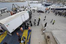 Emergency services on the remote island — Italy's southernmost point — said they had recovered 111 bodies so far and rescued 155 survivors from a boat with an estimated 450 to 500 people on board. Photo: AP