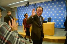 UN secretary-general Ban Ki-moon withdrew his surprise invitation to Iran, a major Assad backer, less than 24 hours after he announced it.. Photo: AFP
