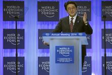 Shinzo Abe, prime minister of Japan at the World Economic Forum in Davos. Photo: Swiss-image.ch/Rémy Steinegger