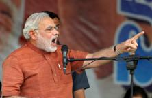 A file photo of Gujarat chief minister Narendra Modi. Photo: Noah Seelam/ AFP