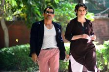 Priyanka Gandhi and husband Robert Vadra on their way to cast their votes for the Lok Sabha elections in Delhi on Thursday. Photo: Priyanka Parashar