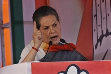 A file photo of Congress party president Sonia Gandhi. Photo: Hindustan Times