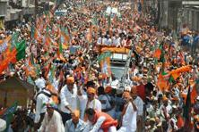 BJP won 71 seats in Uttar Pradesh—bettering its record of 58 wins in the 2009 general elections. Photo: PTI
