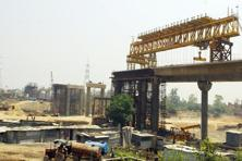 In the picture Metro construction going on in East Delhi. According to Bloomberg, 22 cities plan to build or extend subways at a projected cost of about <span class='WebRupee'>Rs.</span>2 trillion. Photo: Ramesh Pathania/Mint