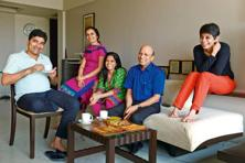Ramesh Jain (centre) with the Talesara family. Photo: Abhijit Bhatlekar/Mint