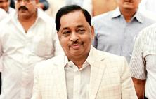 Rane withdraws resignation a fortnight after he slammed Congress for not keeping its promise of making him the chief minister and claiming the party's prospects under Prithviraj Chavan were bleak in Maharashtra elections. Photo: PTI