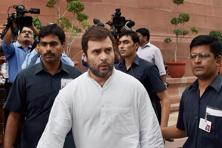 The BJP condemned Rahul Gandhi's comments, saying the Congress was trying to deflect attention from its own internal crisis. Photo: