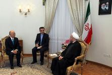 Iranian President Hassan Rouhani (right) meeting with Yukiya Amano (left), director general of the International Atomic Energy Agency (IAEA) in Tehran on 17 August. Photo: AFP