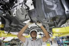 A file photo of Mahindra's factory in Pune. Photo: Bloomberg