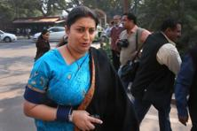 Smriti Irani clarified that students were free to take any Indian language as their third language and Sanskrit was just one among the many choices they had. Photo: AP