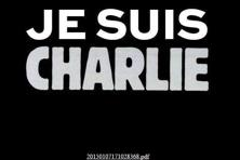 The home page of Charlie Hebdo's website post the terrorist attack on Wednesday.